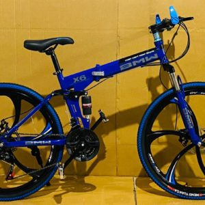 Blue BMW 6 SPOKES FOLDABLE 21 GEARS CYCLES