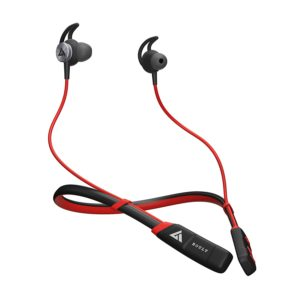 Boult Audio ProBass CurvePro Bluetooth Neckband with Vibration Alert for Calls, in-Ear Wireless Earphones with 12 Hour Battery Life, Fast Charging & in-Built Mic, IPX5 Sweatproof Headphones (Red)
