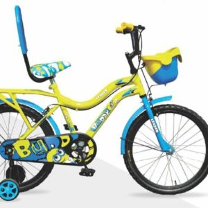 Leader Buddy 20T Kids Cycle for 5 to 9 Years Suitable for Boy and Girl Both Yellow Blue
