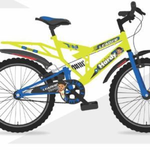 LEADER Hardy 20T IBC REAR SUSPENSION 20 T Road Cycle (Single Speed, Neon yellow /Blue)