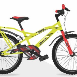 Leader Bruce 20T IBC Cycle for Kids - Age Group 7 to 10 Years Neon Yellow Red