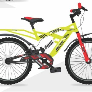 Leader Bruce 20T IBC RS Cycle for Kids - Age Group 7 to 10 Years Neon Yellow Red
